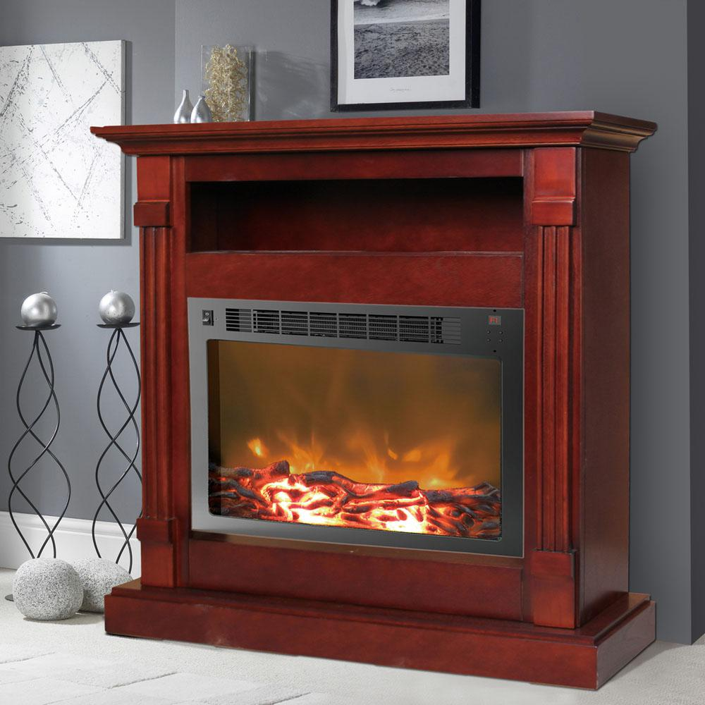 Enjoy comfortable warmth anywhere in your home with the Cambridge Sienna full-surround fireplace mantel with electronic fireplace insert. The forced-air electric heater insert features 2 heat settings