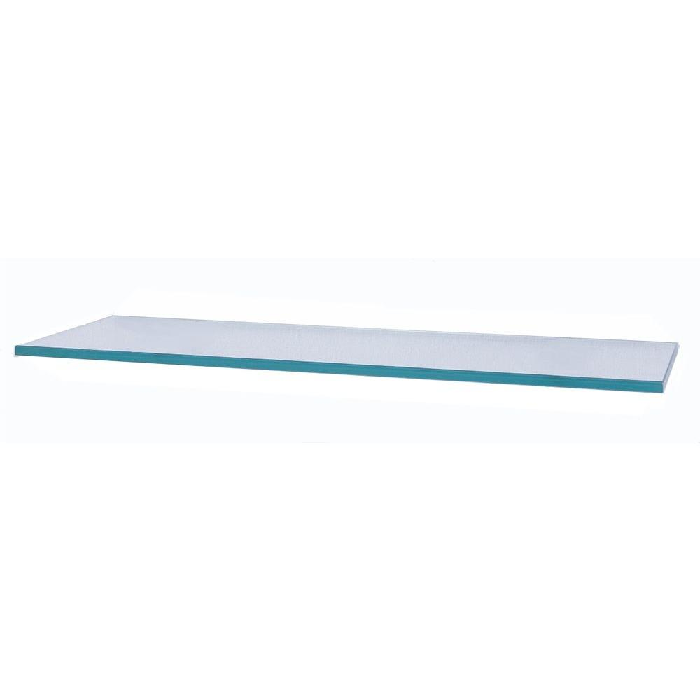 Glacier 24 in. x 12 in. Clear Glass Shelf-GL6030CL - The Home Depot