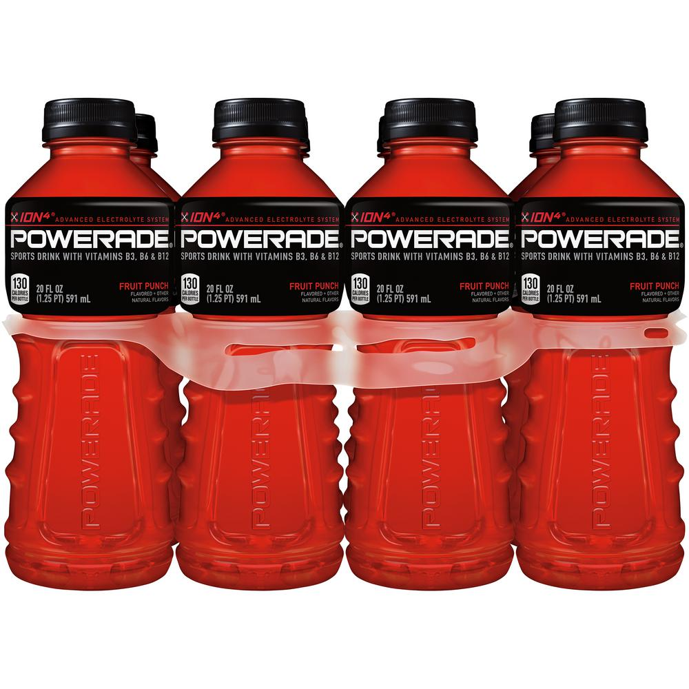 20 oz. Fruit Punch, Sports Drink (8-Pack)
