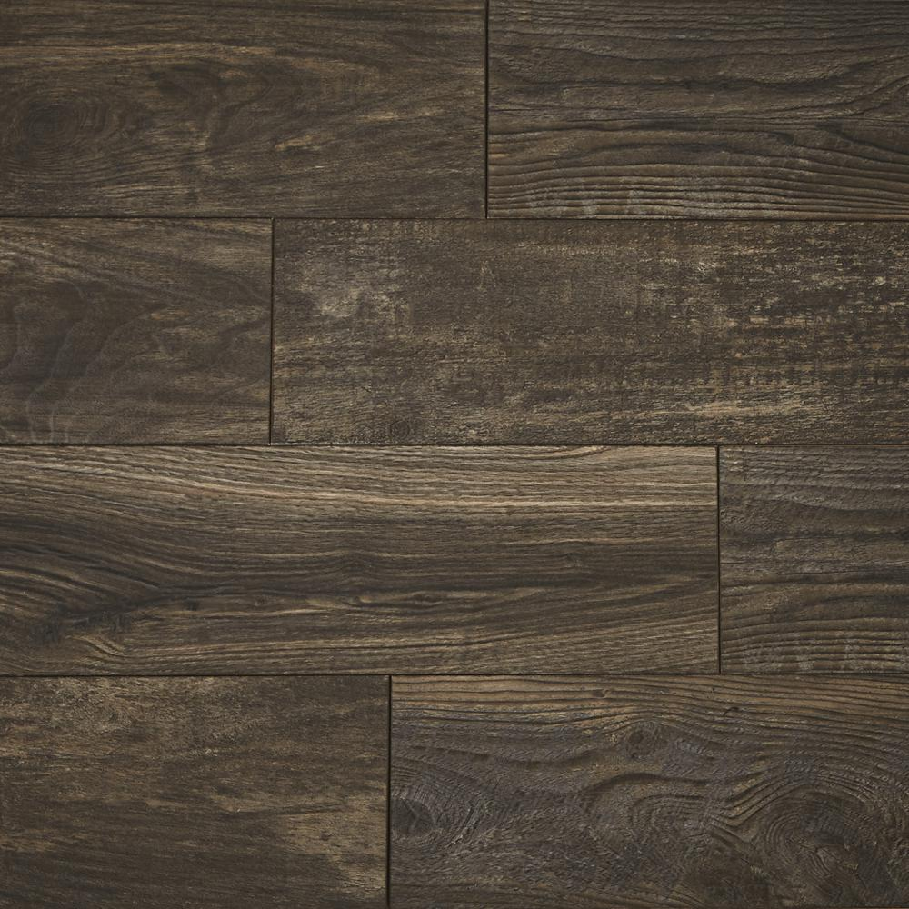 Home Decorators Collection Mocha Wood Fusion 12 Mm Thick X 6 1 8 In Wide X 50 4 5 In Length