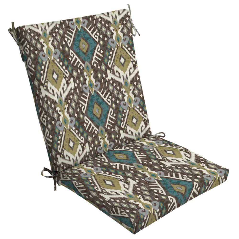 20 X Tenganan High Back Outdoor Dining Chair Cushion