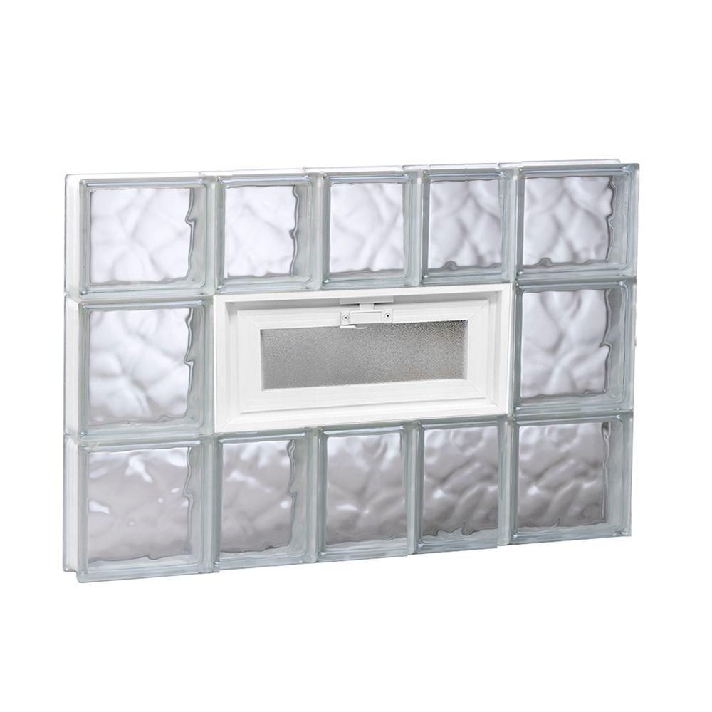 Clearly Secure 32.75 in. x 21.25 in. x 3.125 in. Frameless Wave ...