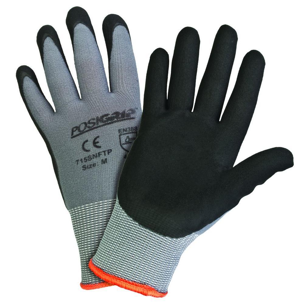 Black Foam Nitrile Coated Large Gloves (12-Pack)