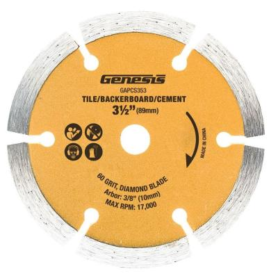 3-1/2 in. Dry-Cut Diamond-Coated Plunge Circular Saw Blade for Tile, Backerboard and Cement