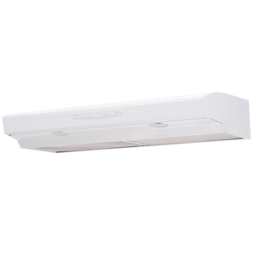 NuTone Allure II Series 42 in. Convertible Range Hood in White