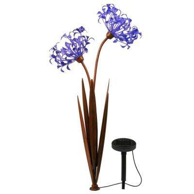 Solar outdoor specialty lighting outdoor lighting the home depot solar led twin head agapanthus decor pathway light workwithnaturefo