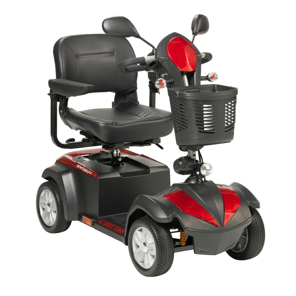 Ventura Power Mobility Scooter 4-Wheel with 18 in. Folding Seat
