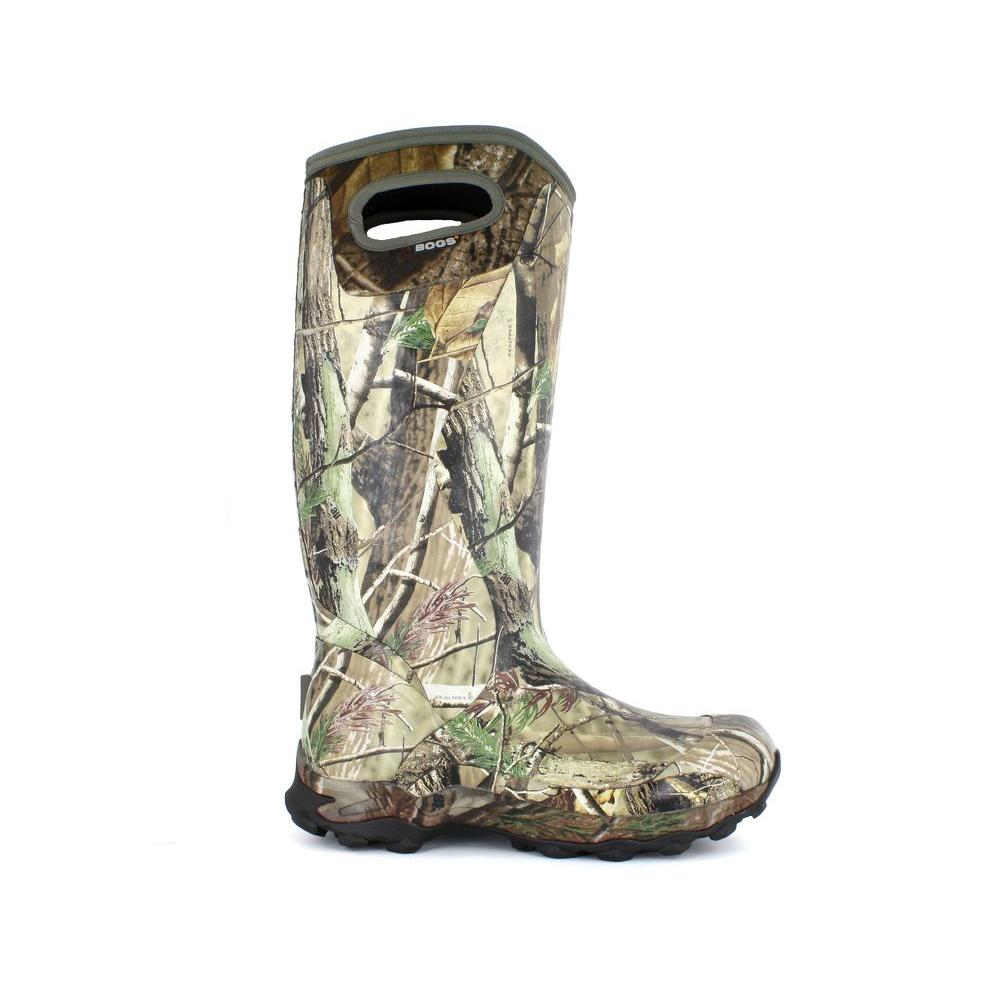 BOGS Bowman Camo Men's 16 in. Size 8 Realtree Waterproof Rubber Hunting Boot