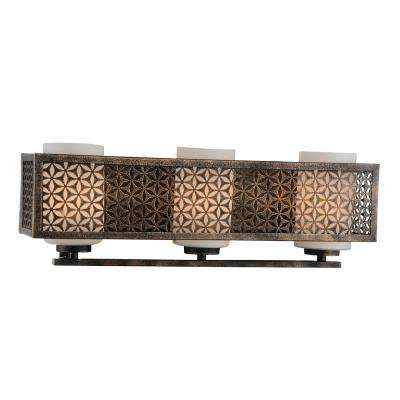 Pollett 3-Light Golden Bronze Sconce