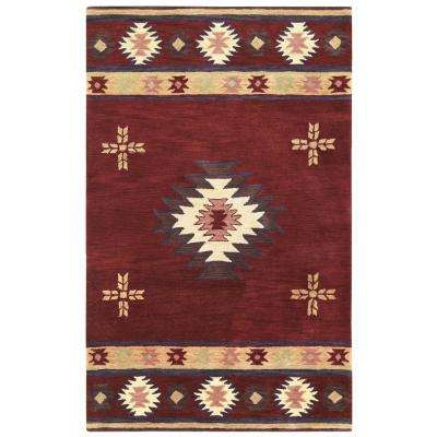 Southwest Burgundy 3 ft. x 5 ft. Area Rug