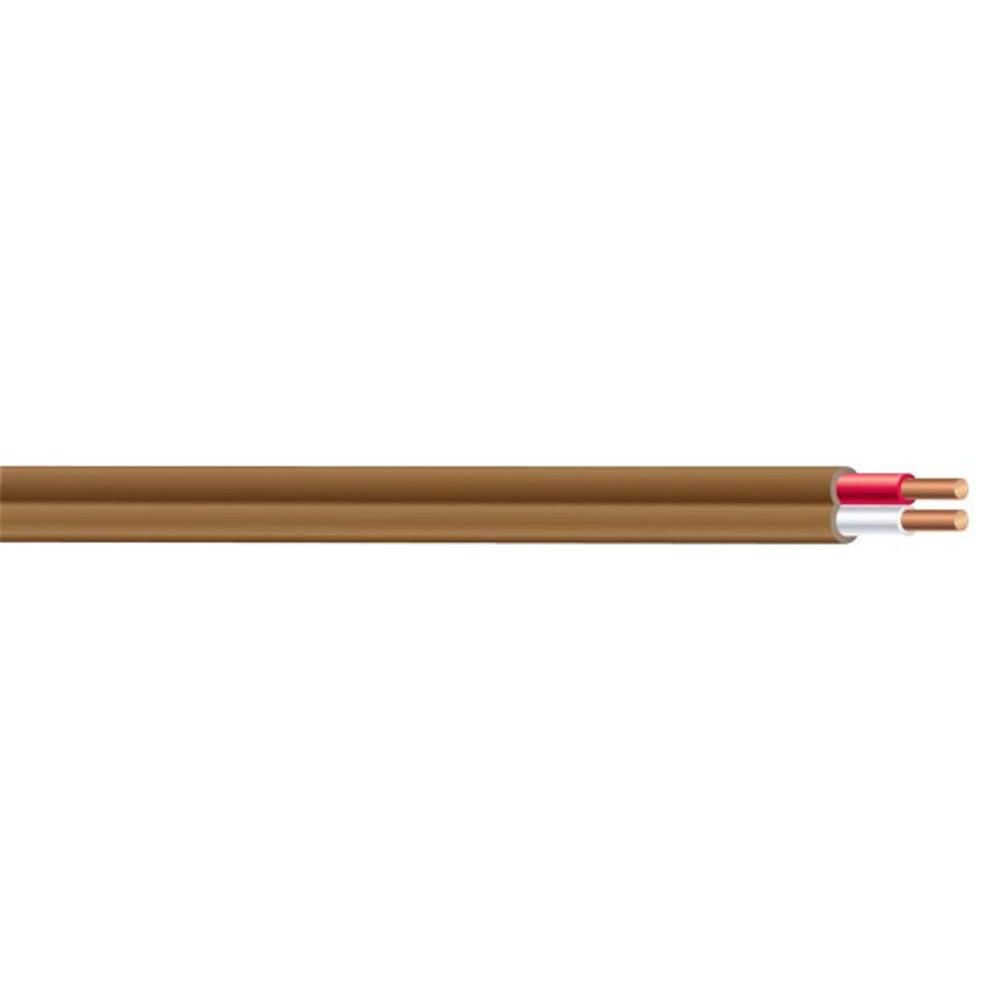 Southwire (By-the-Foot) 18-2 Brown Solid CU T-Stat/Bell Wire