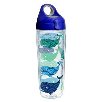 Whale Pattern 24 oz. Double Walled Insulated Water Bottle