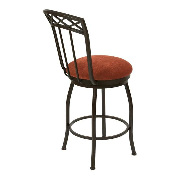 Taylor Gray Home Emily 26 In Sonoma Terracotta Swivel Bar Stool B504h26ss The Home Depot