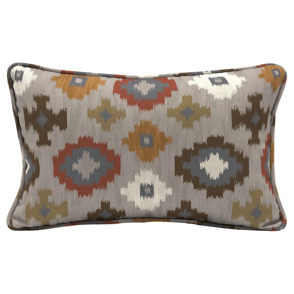 Manistee Lumbar Outdoor Welted Lumbar Throw Pillow