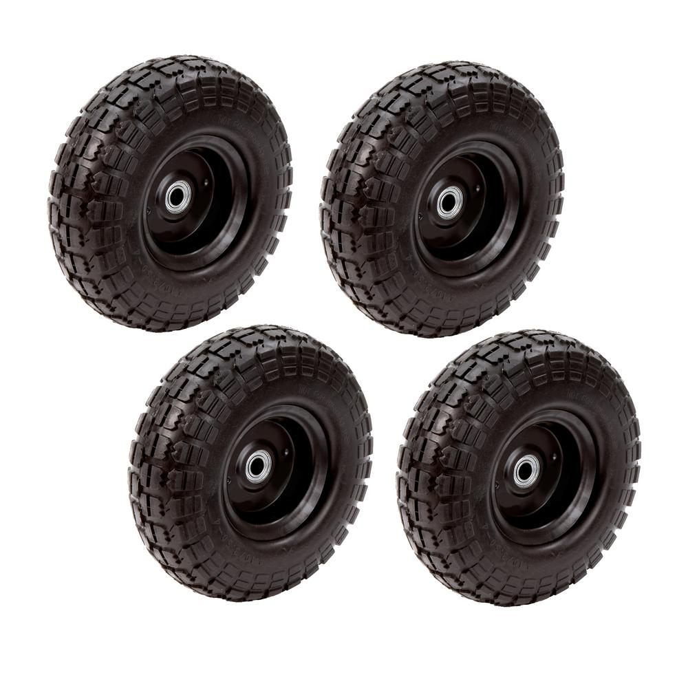 10 in. No Flat Tire (4-Pack)