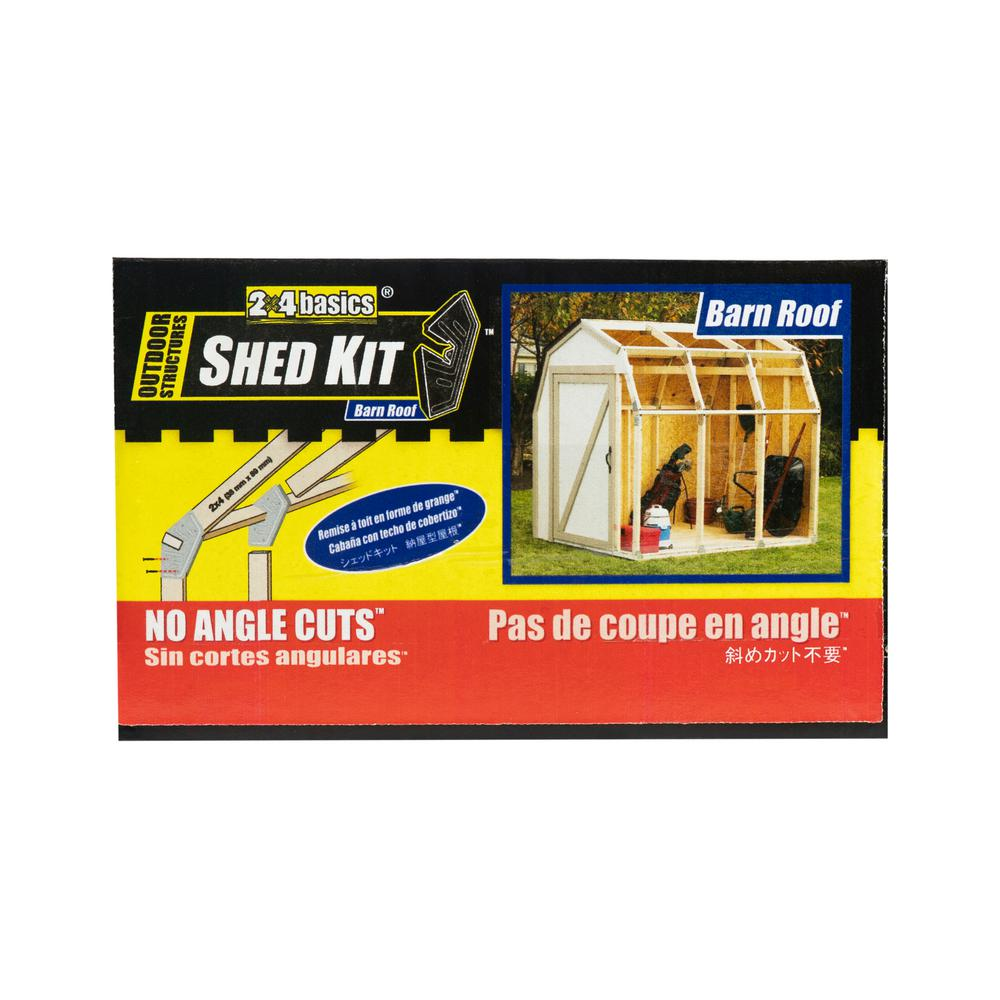 2 x 4 Basics Shed Kit with Barn Roof