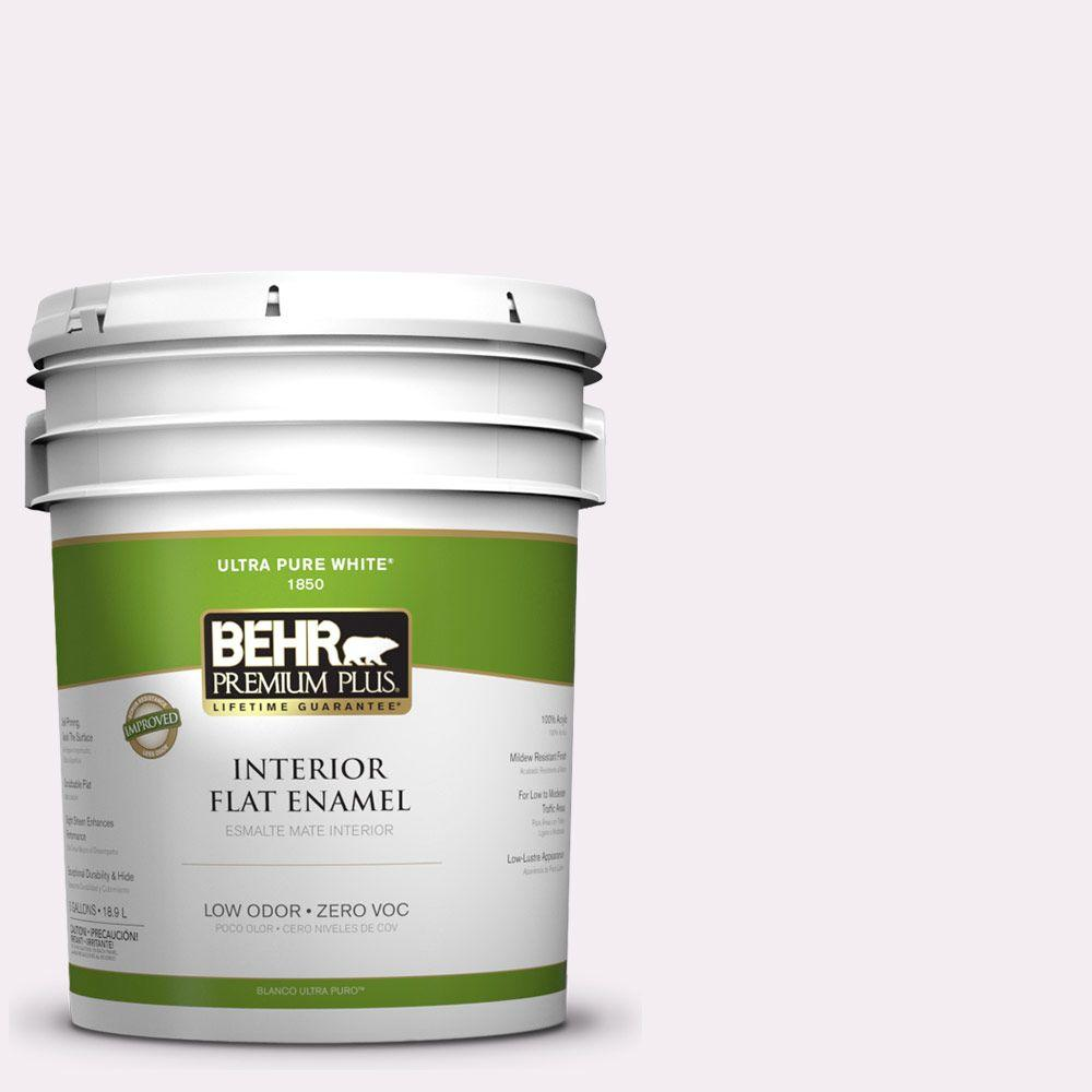 BEHR Premium Plus 5-gal. #680E-1 First Blush Zero VOC Flat Enamel Interior Paint-DISCONTINUED