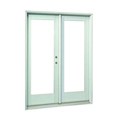 72 in. x 80 in.White Full Lite Prehung Right-Hand Inswing Patio Door
