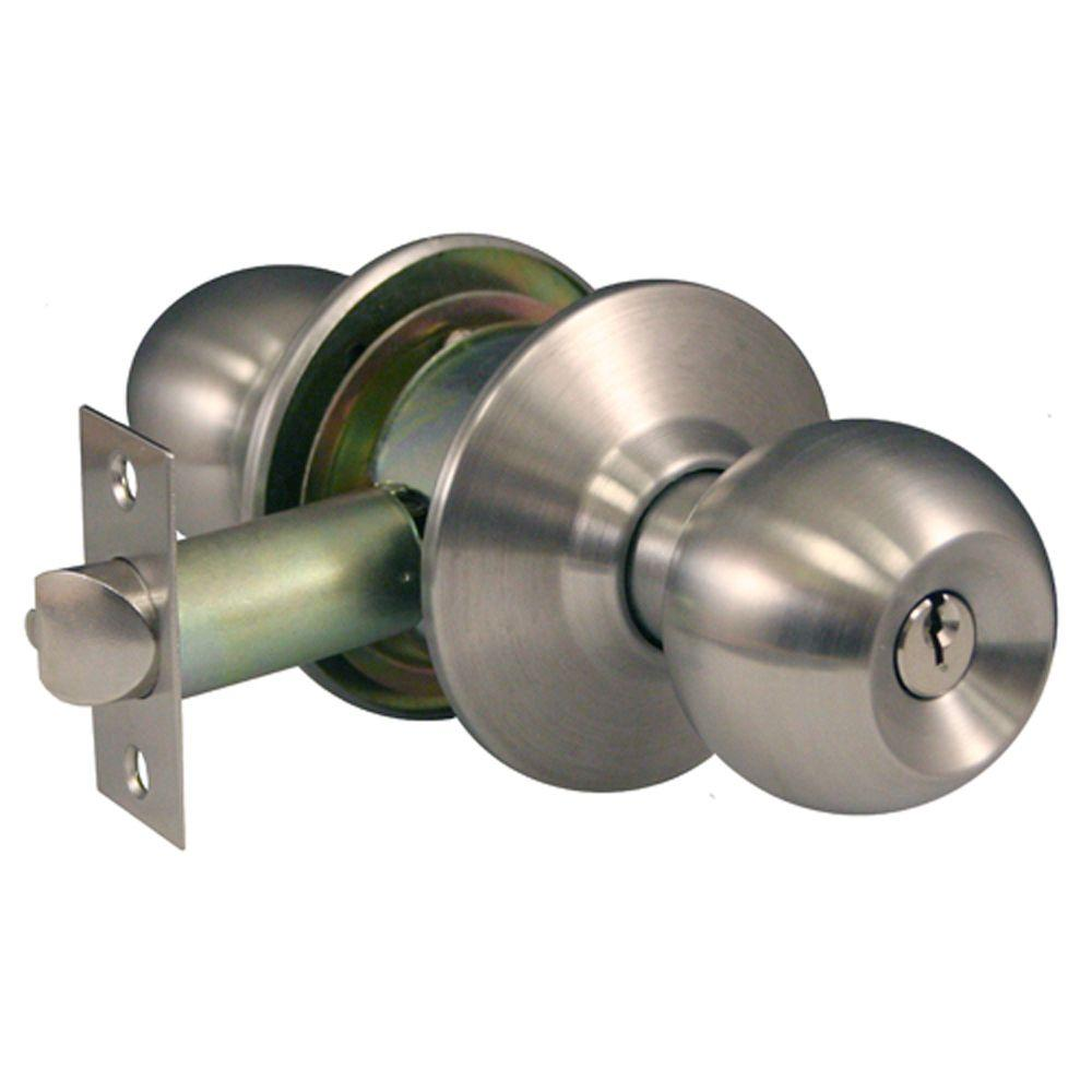 Global Door Controls Commercial Storeroom Ball Door Knob Lockset