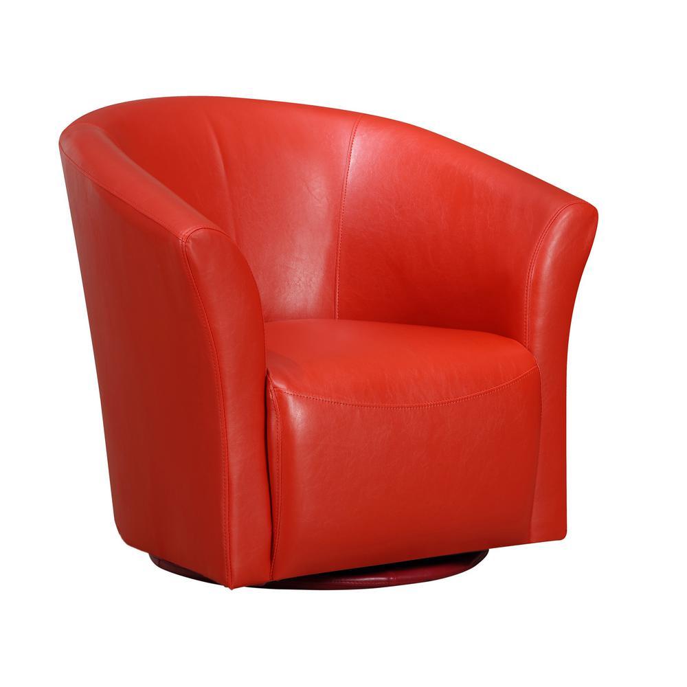 Superb Radford Red Swivel Chair Urt891100Swca The Home Depot Ibusinesslaw Wood Chair Design Ideas Ibusinesslaworg