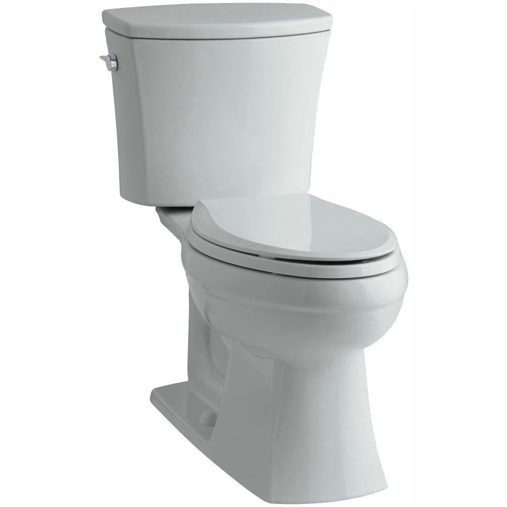 Kelston Comfort Height 2-piece 1.28 GPF Single Flush Elongated Toilet with AquaPiston Flushing Technology in Ice Grey