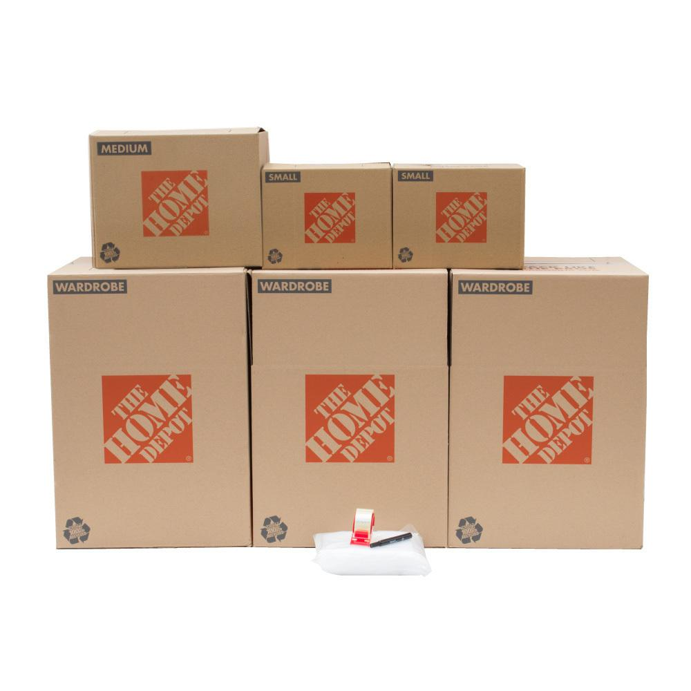 The Home Depot 6-Box Closet Moving Box Kit