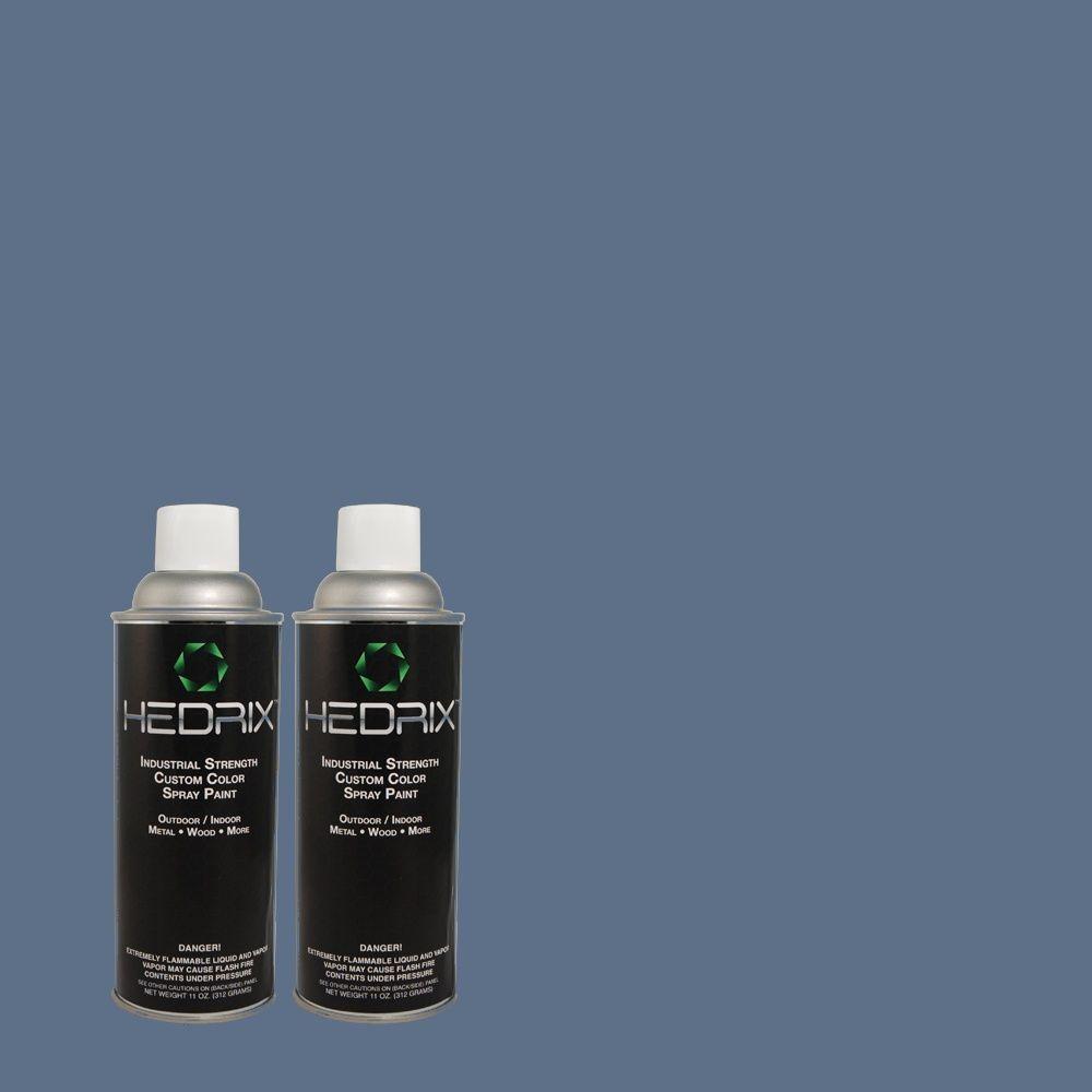 Hedrix 11 oz. Match of 590D-6 Wickford Bay Semi-Gloss Custom Spray Paint (2-Pack)