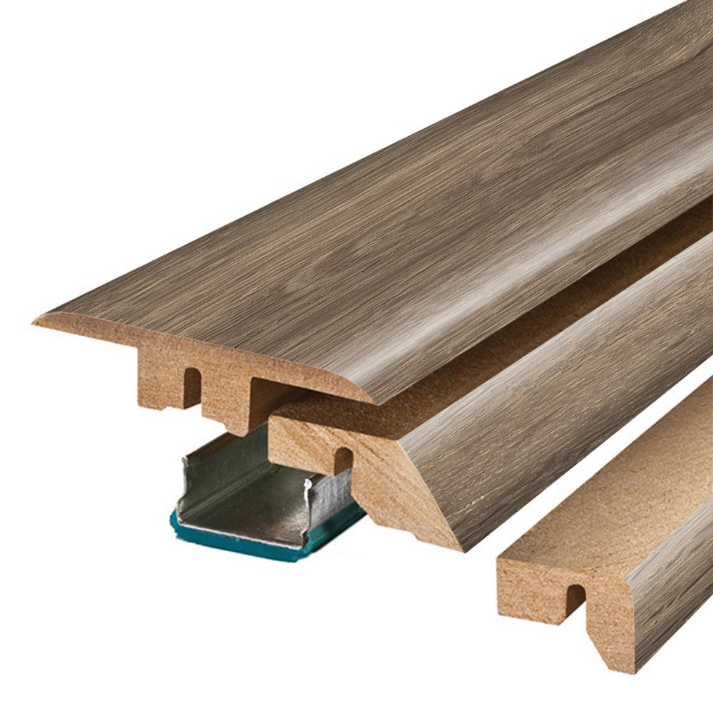 Warm Grey Oak/Southern Grey Oak 3/4 in. Thick x 2-1/8 in. Wide x 78-3/4 in. Length Laminate 4-in-1 Molding