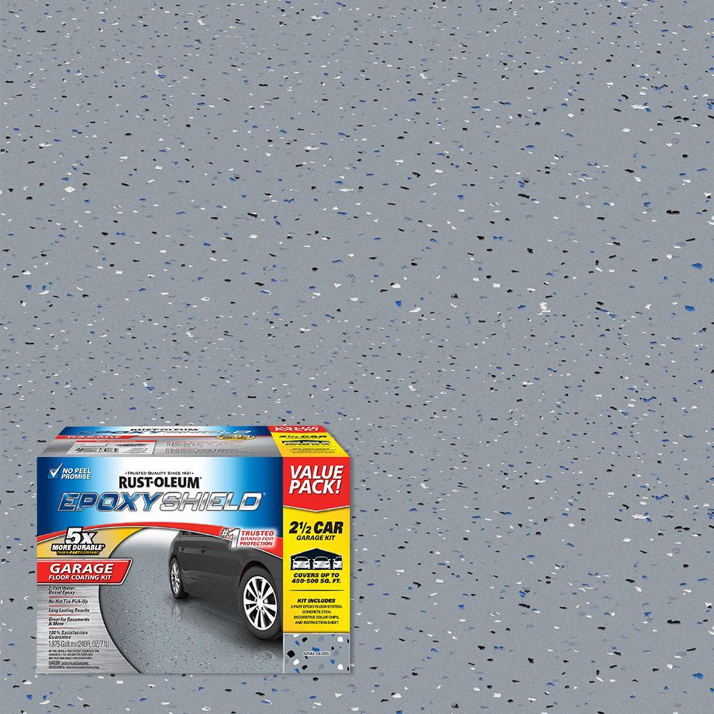 240 oz. Gray High-Gloss 2.5 Car Garage Floor Kit