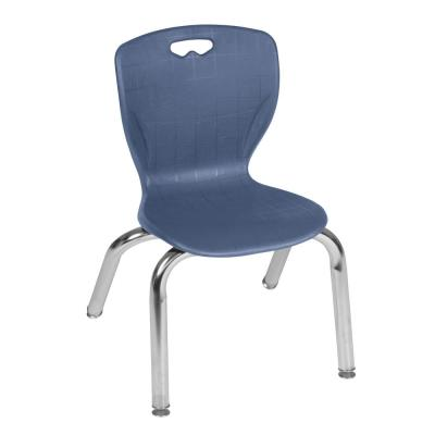Andy 12 in. Navy Blue Stack Chair