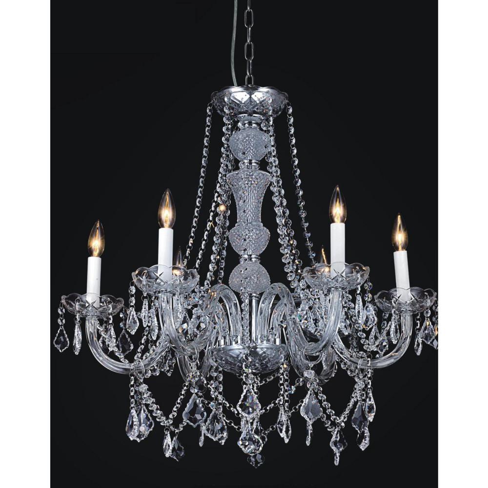 Princeton 12-light chrome chandelier