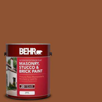 1 gal. #SC-122 Redwood Naturaltone Flat Interior/Exterior Masonry, Stucco and Brick Paint