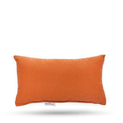 Sunbrella Spectrum Cayenne Rectangular Lumbar Outdoor Throw Pillow (2-Pack)