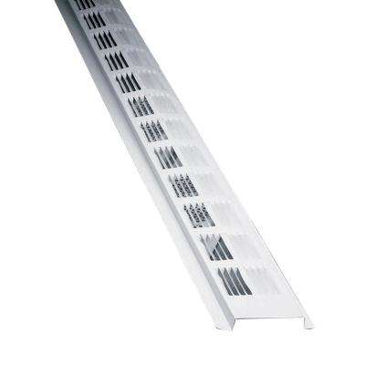 8 ft. Louvered Aluminum New Construction Continuous Soffit Vent in White (Sold in 50-Pieces/Carton Only)