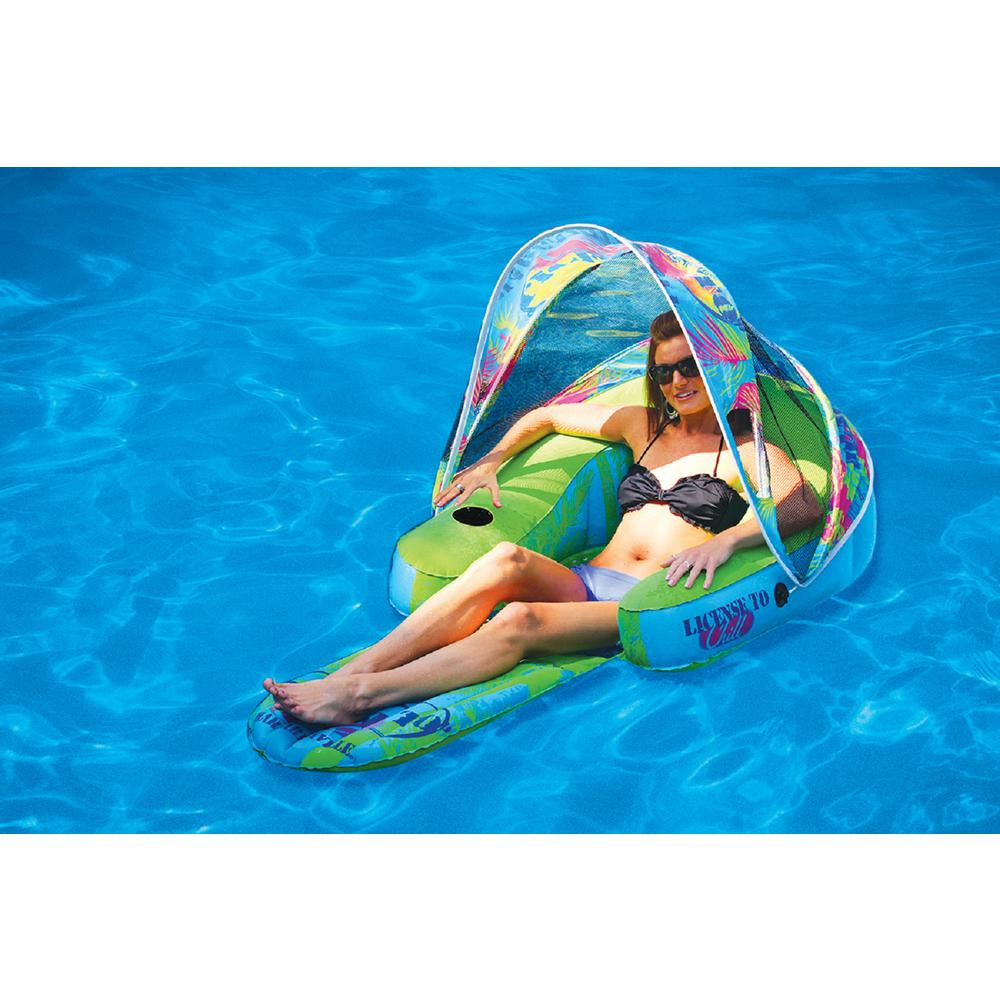 Margaritaville Cabana Chair with Canopy Swimming Pool Float