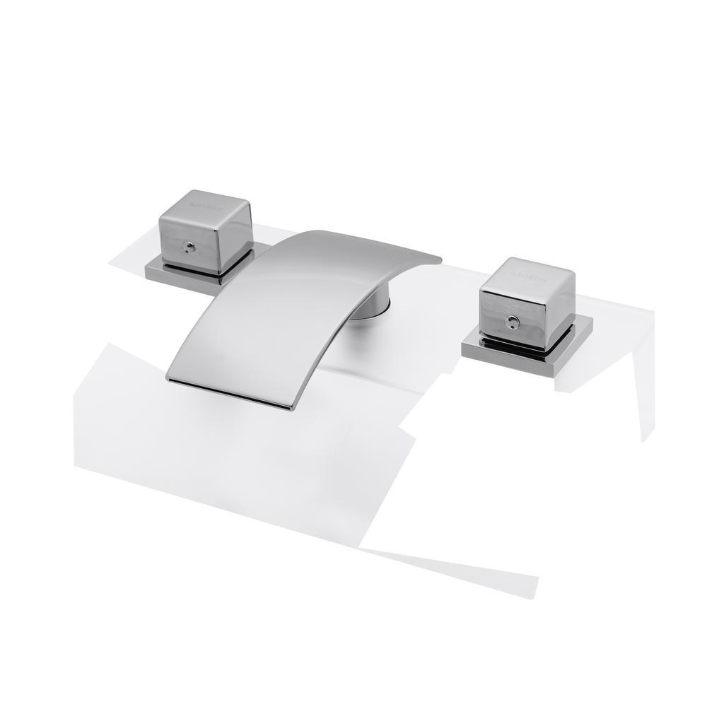 Kokols Dabriel 8 in. Widespread 2-Handle Low Arc Bathroom...