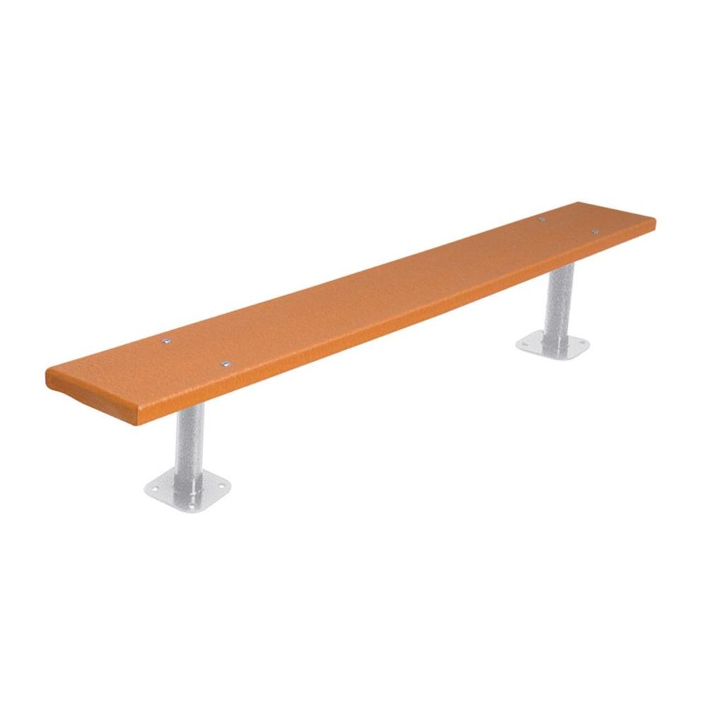 Ultra Play 6 ft. Cedar Commercial Park Recycled Plastic Bench without Back Surface Mount