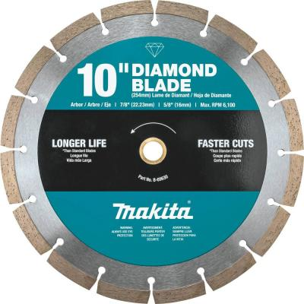 10 in. Segmented Rim Diamond Blade for General Purpose