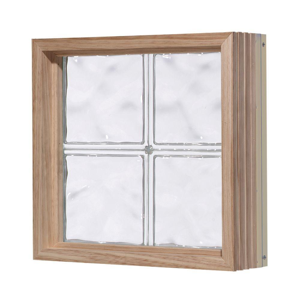 Pittsburgh Corning 32 in. x 48 in. LightWise Decora Pattern Aluminum-Clad Glass Block Window