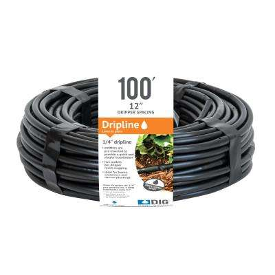 1/4 in. x 100 ft. Dripline with 12 in. Emitter Spacing
