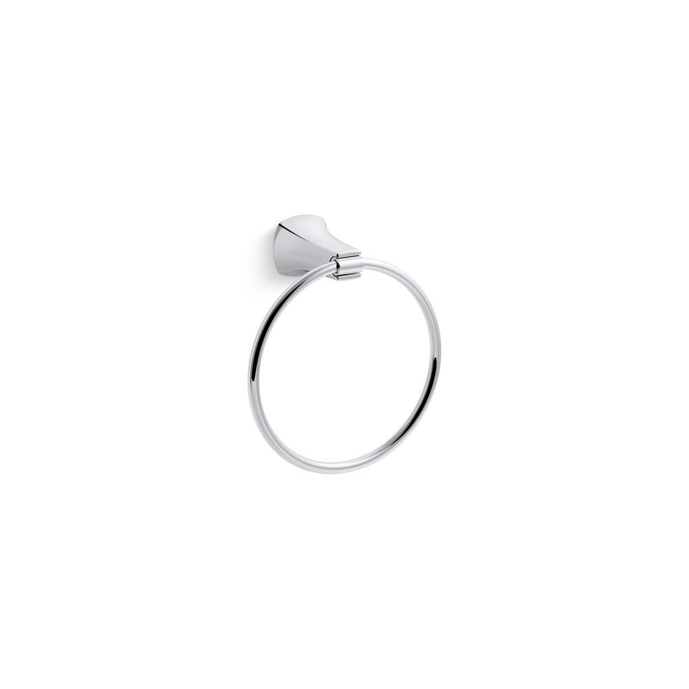 Kohler Rubicon Wall Mount Towel Ring In Polished Chrome