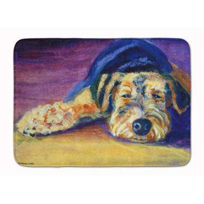 19 in. x 27 in. Snoozer Airedale Terrier Machine Washable Memory Foam Mat