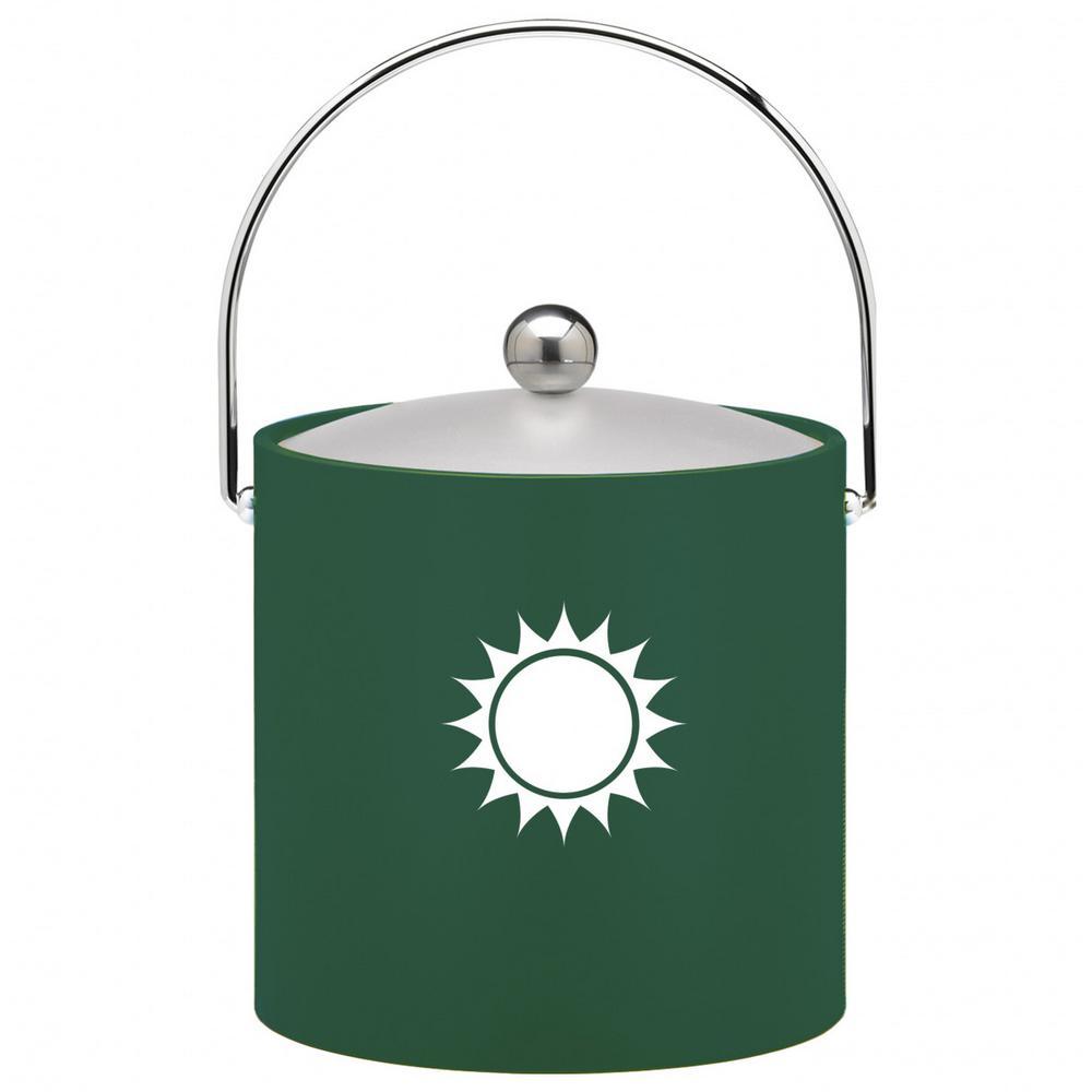Kraftware Kasualware Sunshine 3 Qt. Ice Bucket in Green by Kraftware