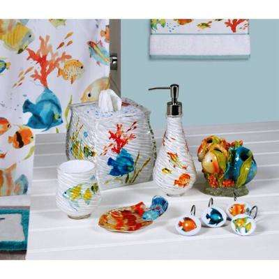 Rainbow Fish 6-Piece Bath Accessory Set in Multi-Color