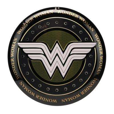 Wonder Woman Embossed Metal Button Decorative Sign
