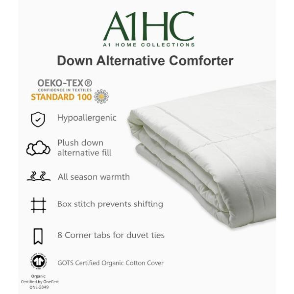 A1 Home Collections A1HC 88 in. x 92 in. Microfiber Down