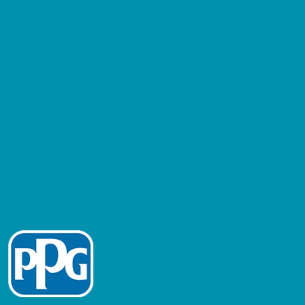 1 gal. #HDPPGB40U Mosaic Blue Flat Exterior One-Coat Paint with Primer