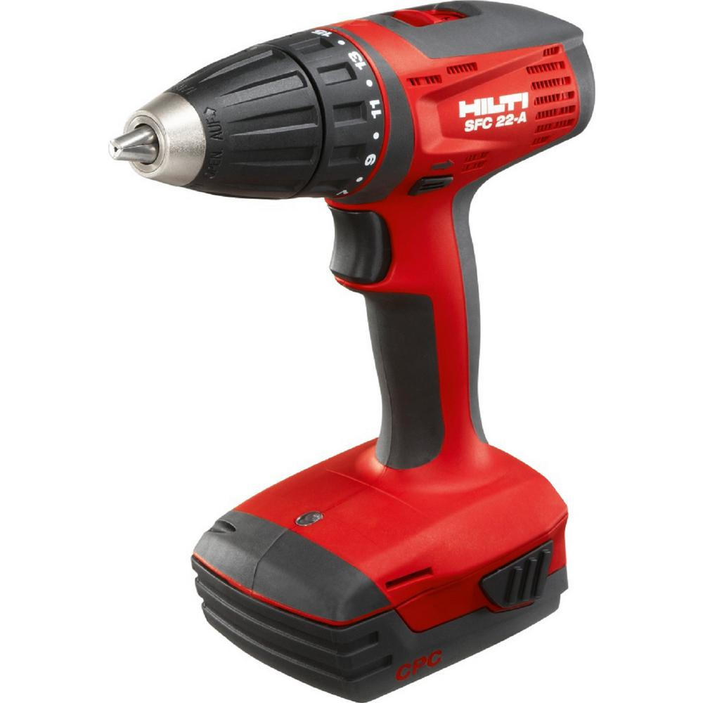 22-Volt Lithium-Ion 1/2 in. Cordless Compact Drill Driver SFC 22 Kit