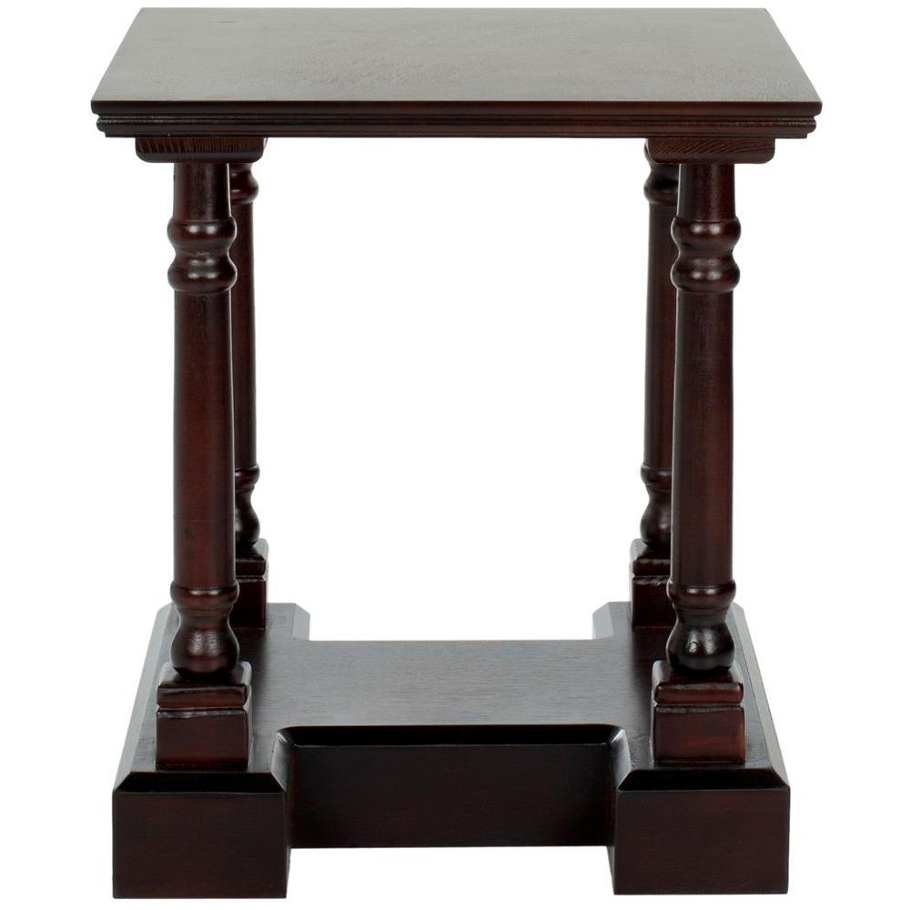 Endora Dark Cherry Storage End Table