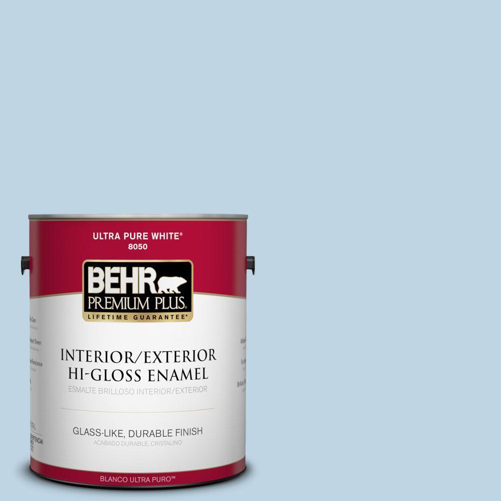 1-gal. #S490-2 Glacial Stream Hi-Gloss Enamel Interior/Exterior Paint